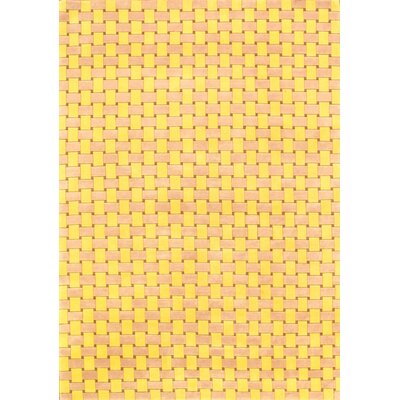 One-of-a-Kind Hand-Knotted Wool Yellow Area Rug
