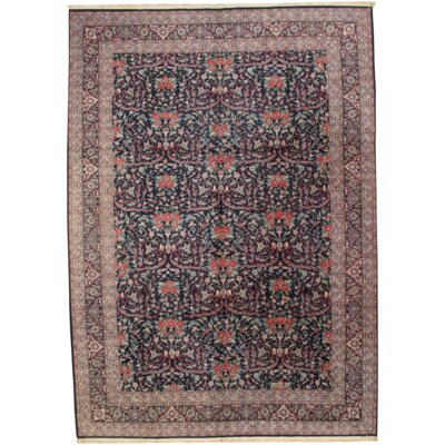 Fine Sino Persian Mostofi Hand-Knotted Wool Brown Area Rug