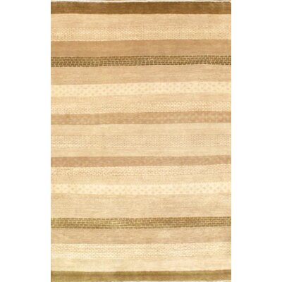 Indo Gabbeh Loribaft Hand-Knotted Wool Ivory/Brown Area Rug