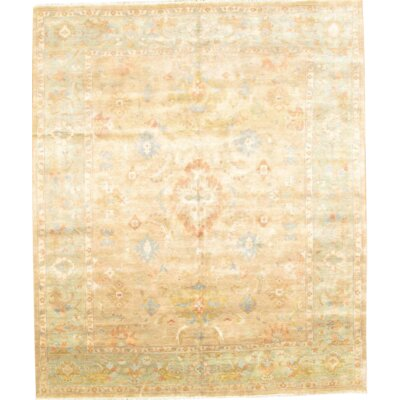 Original Turkish Oushak Hand-Knotted Wool Camel Area Rug