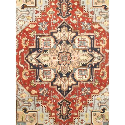 Serapi Hand-Knotted Wool Rust Area Rug
