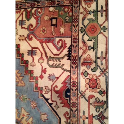 Serapi Hand-Knotted Wool Ivory/Rust Area Rug