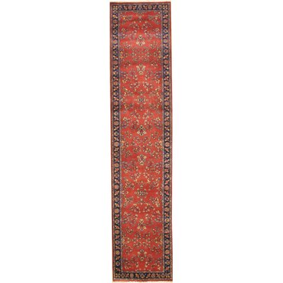 Saruk Hand-Knotted Wool Red Area Rug