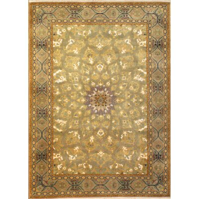 Tabriz Hand-Knotted Wool Ivory Area Rug