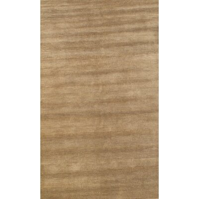 Indian Modern Hand-Knotted Wool Brown Area Rug