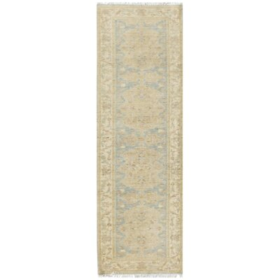 Farahan Hand-Knotted Wool Gray/Beige Area Rug