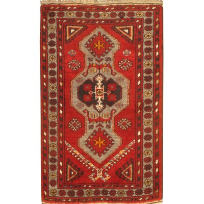 Balouch Hand-Knotted Wool Red Area Rug