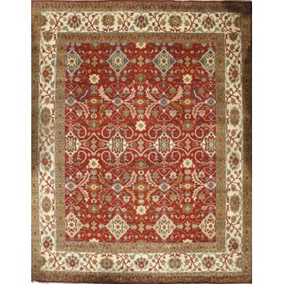 Serapi Hand-Knotted Wool Rust/Ivory Area Rug