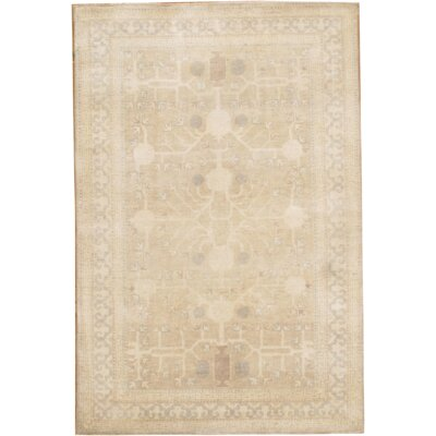 Indo Hand-Knotted Wool Beige/Gray Area Rug