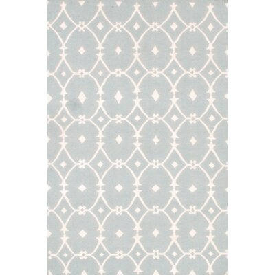 Modern Hand-Knotted Wool Gray/Ivory Area Rug