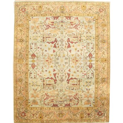 Turkish Oushak Design Hand-Knotted Wool Beige Area Rug