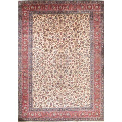 Persian Hand-Knotted Wool Red/Ivory Area Rug