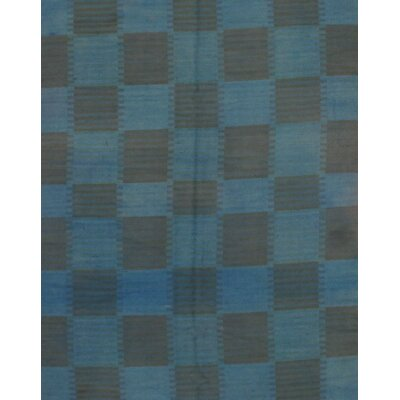 Modern Wool Blue Area Rug