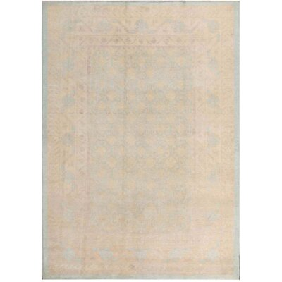 Khotan Hand-Knotted Wool Gray/Ivory Area Rug