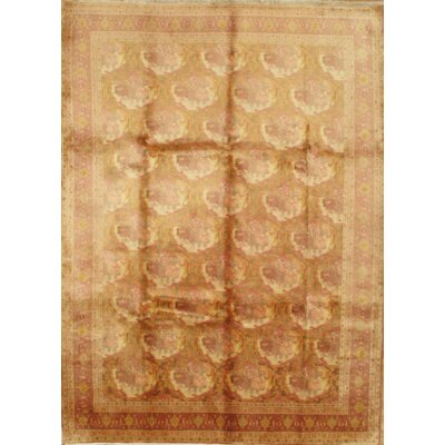 Persian Bidjar Hand-Knotted Wool Rust Area Rug