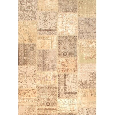 Contemporary Hand Knotted Wool Beige Area Rug