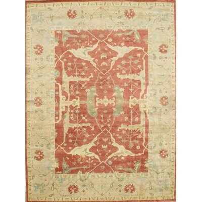 Hand-Knotted Wool Rust/Ivory Area Rug
