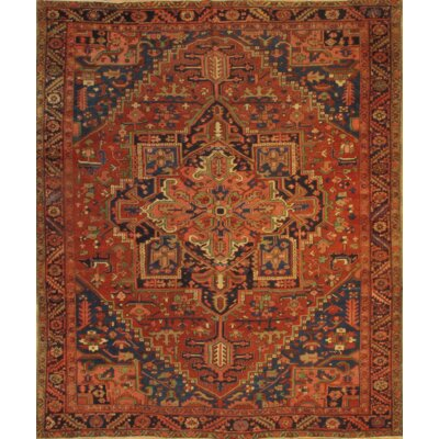 Persian Hand-Knotted Wool Brown/Red Area Rug