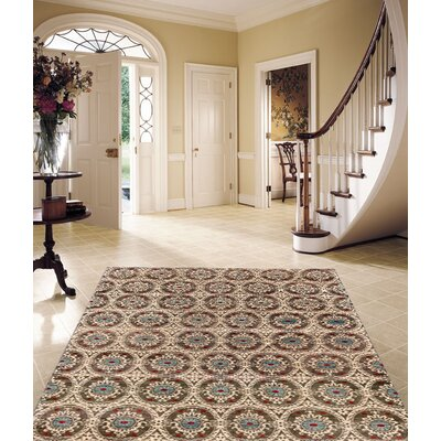 Ferahan Hand-Knotted Wool Beige Area Rug