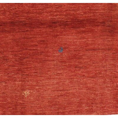 Persian Gabbeh Hand-Knotted Wool Red Area Rug