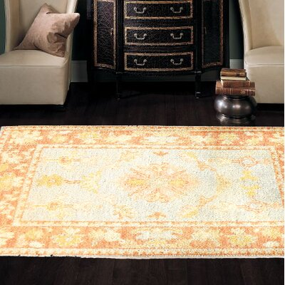 Oushak Hand-Knotted Wool Ivory/Brown Area Rug