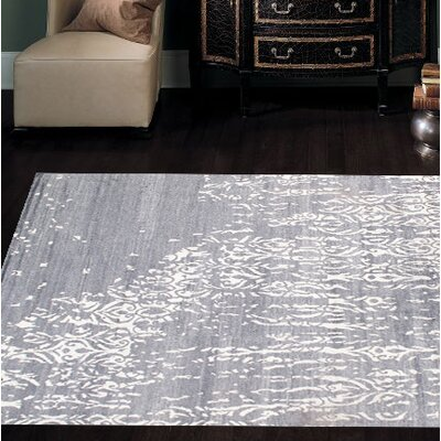Contemporary Hand-Knotted Wool Gray Area Rug