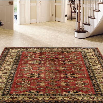Kazak Hand-Knotted Wool Red Area Rug