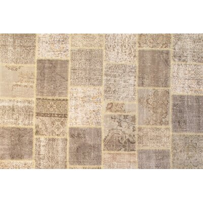 Persian Hand Knotted Wool Beige Area Rug