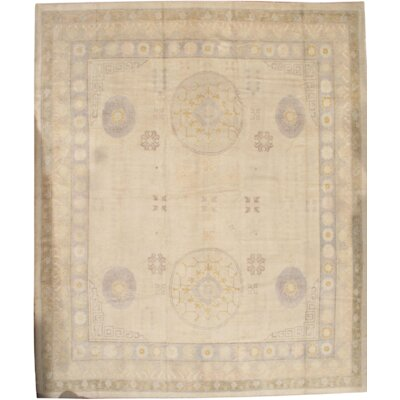 Oushak Hand Knotted Wool Camel Area Rug