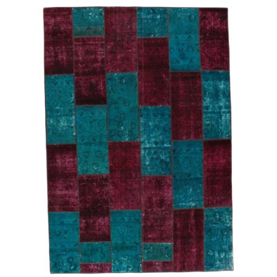 Persian Hand Knotted Wool Red/Blue Area Rug