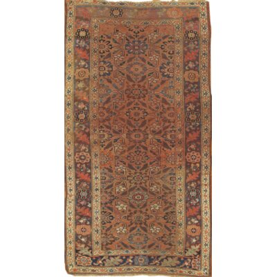 Persian Hand-Knotted Wool Peach/Ivory Area Rug