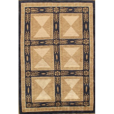 One-of-a-Kind Tibetan Hand-Knotted Wool Ivory Area Rug