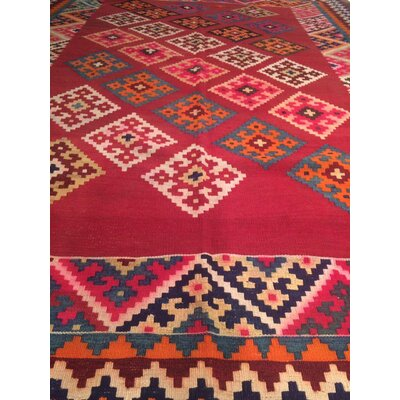One-of-a-Kind Persian Kilim Wool Red/Beige Area Rug