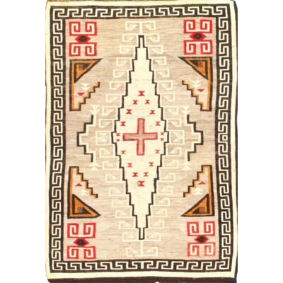 One-of-a-Kind Reversible Hand-Knotted Wool Ivory Area Rug