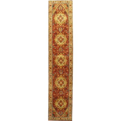 One-of-a-Kind Serapi Hand-Knotted Wool Rust/Gold Area Rug