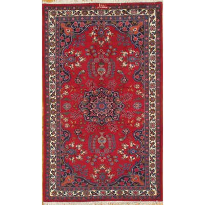 Persian Mashhad Hand Knotted Wool Ivory Area Rug