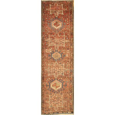 Persian Karajeh Hand-Knotted Wool Beige/Brown Area Rug