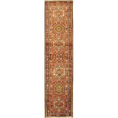 Antique Persian Hand-Knotted Wool Beige/Peach Area Rug