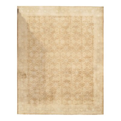 Persian Tabriz Hand-Knotted Wool Beige Area Rug