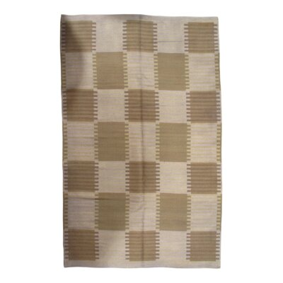 Scandinavian Hand-Knotted Wool Gray Area Rug