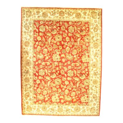 Agra Hand-Knotted Wool Rust Area Rug