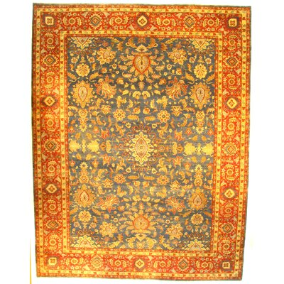 Farahan Hand-Knotted Wool Rust Area Rug