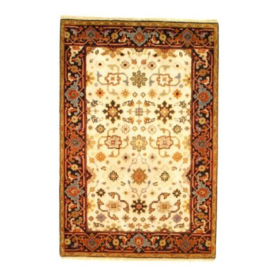 Mahal Hand-Knotted Wool Ivory/Brown Area Rug