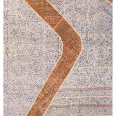 Turkish Hand-Knotted Wool Beige Area Rug