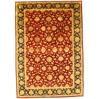 Tabriz Hand-Knotted Wool Rust/Gold Area Rug