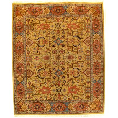 Sultanabad Hand-Knotted Wool Gold/Rust Area Rug