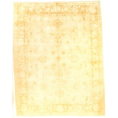 Pak Modern Farahan Hand-Knotted Wool Yellow Area Rug