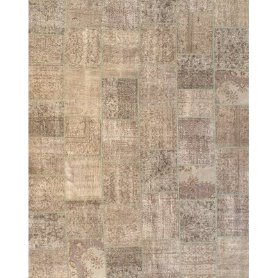 Turkish Hand-Knotted Wool Gray Area Rug
