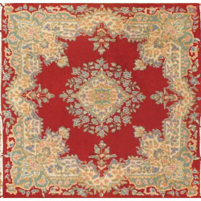 Royaal Persian Kerman Hand-Knotted Wool Red Area Rug