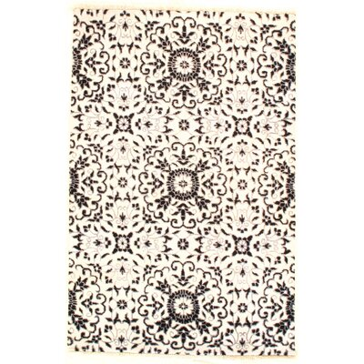 Loop & Pile Modern Soumak Weave Hand-Knotted Wool Gray Area Rug